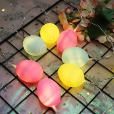 Delicate Creative Colorful Easter Egg Model Vinyl Eggs LED String Lights Bulb with Safety Batteries Holder