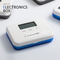 Electronic Intelligent Small Medicine Box Mini Medicine Box Week Medicine Storage Reminder Portable Sub Packed Small Medicine Box