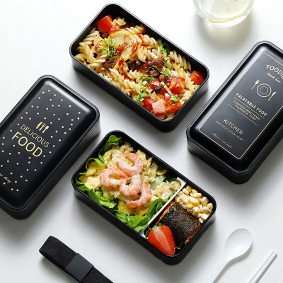 Twin-layer Lunch-box for Commuters Students Twin-layer Microwave Stove Heating Bento Box Large Size Lunch-box