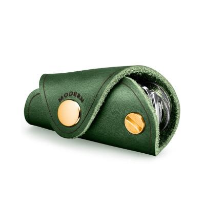 Retro Key Case for Key Storage Creative Real Cow Leather Key Storage Bag Soft Resilient Key Case Large Size Key Holder