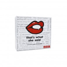 THAT'S WHAT SHE SAID English Deck Game Cards with Red Lips Pattern Full English Dark Theme Decks for Party Family Games