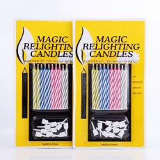 Magic Trick Relighting Birthday Candles Incredible Multicolor Candles for Rituals and Party Decorations 10 Packs