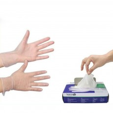 Disposable Gloves Latex Check Cross Protection Meal Kitchen Food Isolation PVC Gloves