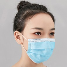 Three-layer Disposable Cover Face Mask Protect Dust-proof Smog Pollen Breathable 50Pcs/Box