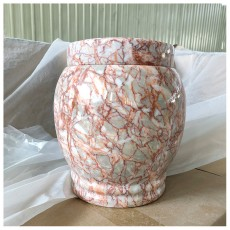 Marble Ashes, Urns Agate Red Stone Cup Ashes Barrel Ashes Canister Funeral Supplies