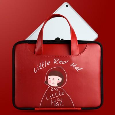 Handbag for iPad Tablet Carry Bag Lovely Cartoon Imitated Leather Protective Case Bag for iPad Storage Waterproof iPad Handbag