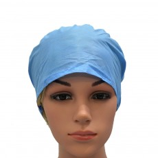 Disposable Hair Net Bouffant Cap spun-bonded Polypropylene Non-Woven Head Cover Hat Elastic Latex Free 21