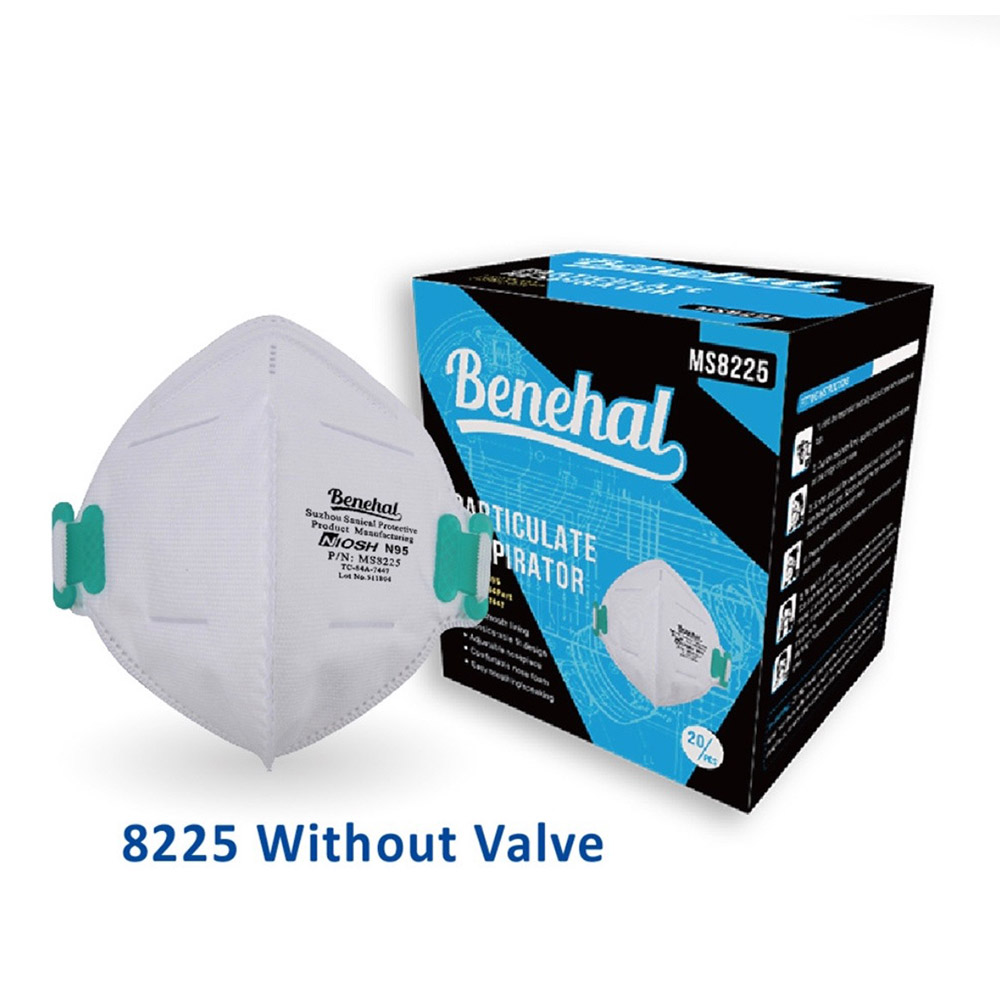 Benehal Sanical NIOSH N95 Respirator MS8225 Head-mounted Masks 20Pcs