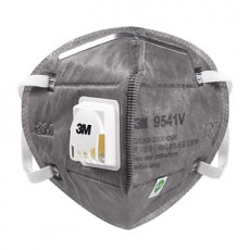 3M 9541V KN95 Activated Carbon Particulate Respirator with Valve Mask Earloop 20pcs/Box
