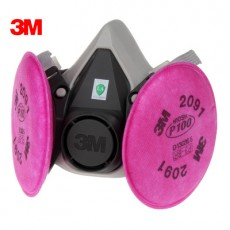 3M Dust Mask Set 6200 with 2091 Filter Cotton Anti-organic Vapor Dust Welding Smoke Industrial Mask