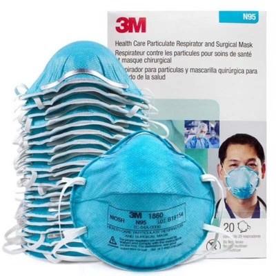 3M 1860 N95 Surgical Masks 20Pcs/ Box, Wholesale Sample Order Only