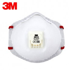 3M 8833 FFP3 Particulate Respirator Anti-particulate PM2.5 Smog Dust Masks with Exhalation Valve Full Ring Seal