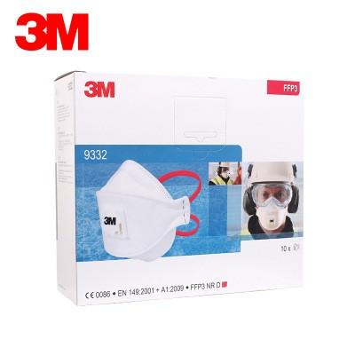 3M 9332 FFP3 Particulate Respirator Dust Mask Haze PM2.5 Respirator 10PCS/Pack