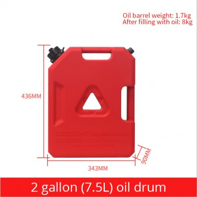 Iron Proof Gasoline SUV Vehicle Motorcycle Gas Jerry Can Auxiliary Fuel Tank With Hose Container