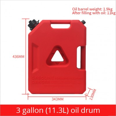 Portable Iron Proof Gasoline Car Vehicle Motorcycle Oil Can Auxiliary Fuel Tank Capacity With Hose Container