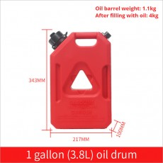 Plastic Universal Iron Proof Gasoline Car Vehicle Motorcycle Oil Jerry Can Auxiliary Fuel Tank With Hose Container