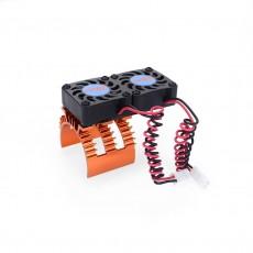 SURPASS-HOBBY 360 Series Dual Fan Motor Radiator With High Speed 2w Rotating Fan Blue Red Orange