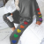 Cute Pattern With Lovely Heart Design Colorful Rainbow Casual Home Service Suit Designed For Ladies And Girls 2