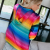 Fashionable And Comfortable Rainbow-colored Printed Pocket Hoodies With Youthful Vitality Designed For Girls 2
