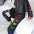 Cute Pattern With Lovely Heart Design Colorful Rainbow Casual Home Service Suit Designed For Ladies And Girls 1