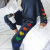 Cute Pattern With Lovely Heart Design Colorful Rainbow Casual Home Service Suit Designed For Ladies And Girls 3