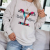 Instyle Letter Printing Design With Simple And Stylish Round Neck Sweater Suitable For Energetic Young Ladies And Girls 1