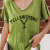 Yellowstone Printed Cotton With Linen Colid Color T-shirt Charming match For Ladies And Girls 2