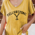 Yellowstone Printed Cotton With Linen Colid Color T-shirt Charming match For Ladies And Girls 4