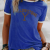 Fashionable And Comfortable Fabric With Cute Pattern Printed Cotton Solid Color T-shirt Designed For Ladies And Girls 3
