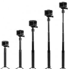 Osmo Action Gopro Photography Equipment Bracket Telescopic Aluminum Sports Camera Selfie Stick For DJI