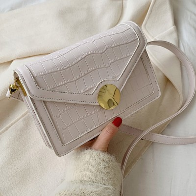 2020 Autumn New Crocodile Pattern Shoulder Bag Messenger Bag All-match Fashionable Small Square Bag