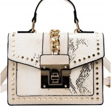 Fashion Snake Pattern Portable Small Female Bag 2020 New European And American Personality Atmospheric Messenger Shoulder Bag Wild Small Square Bag