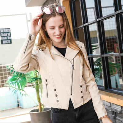 2020 New Fashion Faux Leather Jacket Ladies Autumn And Winter Black Motorcycle Jacket Designed For Women