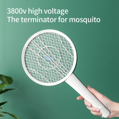Multifunctional Guitar Electric Mosquito Racket Guitar Creative Wall-mounted Modeling Design USB Charging LED Mosquito Trap
