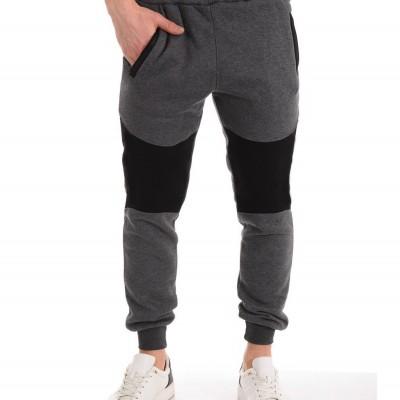 Men's Casual Zipper Stitching Trousers Autumn Pants Sports Jogging Pants 2020 New Men's Pants Tight Long Cotton Pants Sports Pants