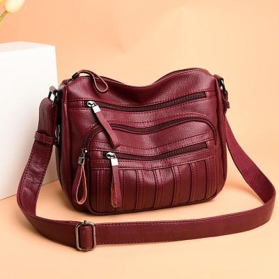 Leather Luxury Handbag Lady Bag Designer Handbag Lady Lady One Shoulder Handbag 2020 Medium Casual Handbag 28*12*20cm