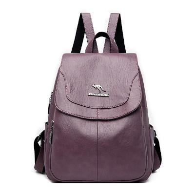 2020 Women's PU Leather Backpack School Bag Classic Waterproof Travel Multi-function Shoulder Bag
