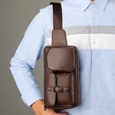 Men's Waist Bag Belt Waist Packs Sheep genuine Leather Waist Bag For men/women Fanny Pack Belt Bum/Hip men's belt bags