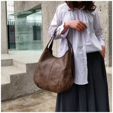 Messenger Bag Women Bucket Shoulder Bag Large Capacity Vintage Matte PU Leather Lady Handbag Design For Women And Girls