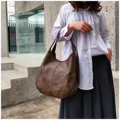 Messenger Bag Women Bucket Shoulder Bag Large Capacity Vintage Matte PU Leather Lady Handbag Design For Women And Girls