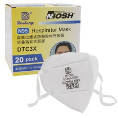 Dasheng DTC3X N95 Respirator NIOSH FDA CE Certified Earloop Breathable Dust PM2.5 Protective Masks 20Pcs