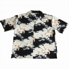 2020 Daily Casual Half Sleeve Couple Street Style Loose Buttons Chinese Style Short Sleeve Lapel Printed Shirt For Men And Women