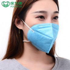 POWECOM 9611 KN90 Particulate Respirator Headband Blue White Face Mask 10 PCS/pack