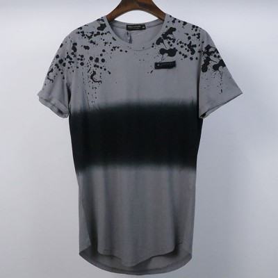 Fashion New Comfortable Simple Style JET FUEL 100% Cotton Vintage Washed Oversized Tshirt Wholesale T Shirts High Quality T-Shirt Tee Shirt Incurve  For men