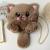 2020 Autumn And Winter Embroidery Imitation Rabbit Fur Kitten Bag Plush Cat Bag Long Tail Temale Chain Diagonal Bag Backpack 3