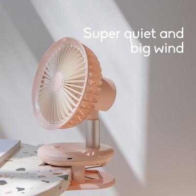 USB Fan Desktop Clip Electric Fan Automatic Shaking Head Portable Small Large Wind Mute Mini Fan Compact