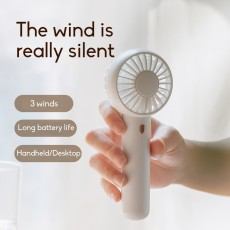 2020 In Style Portable Mini Fan Rechargeable Silent Student Dormitory Desktop Bed Fan
