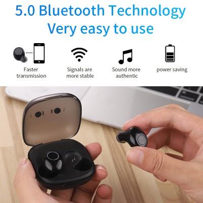 2020 New 5.0 Waterproof Bluetooth Headset TWS Wireless Automatic Power-on Dual Call Tws Headset