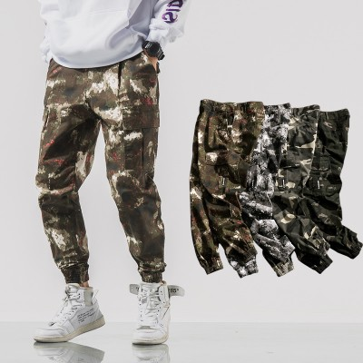 2020 Simple and comfortable New Style Fashion Camouflage Button Casual Trousers For Man