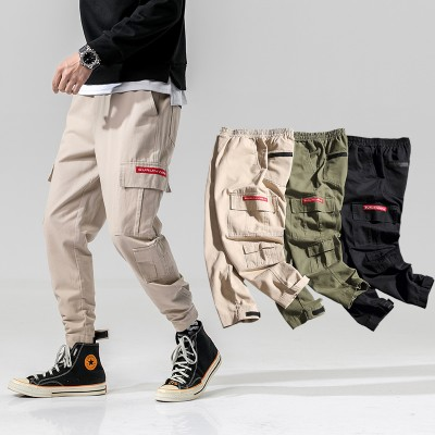 2020 Simple And Comfortable Fashion Camouflage Button Casual Trousers Straight-Leg Pants For Man